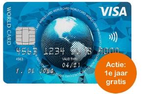 Gratis Visa creditcard  + 25 Euro vakantiegeld!