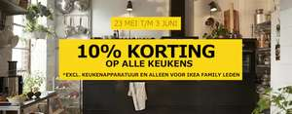 [ikea] 10% korting op keukens