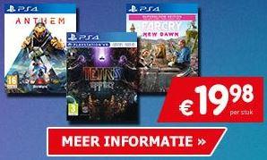 Tetris Effect, Anthem, Far Cry New Dawn (PS4) Days of Play aanbieding Game Mania