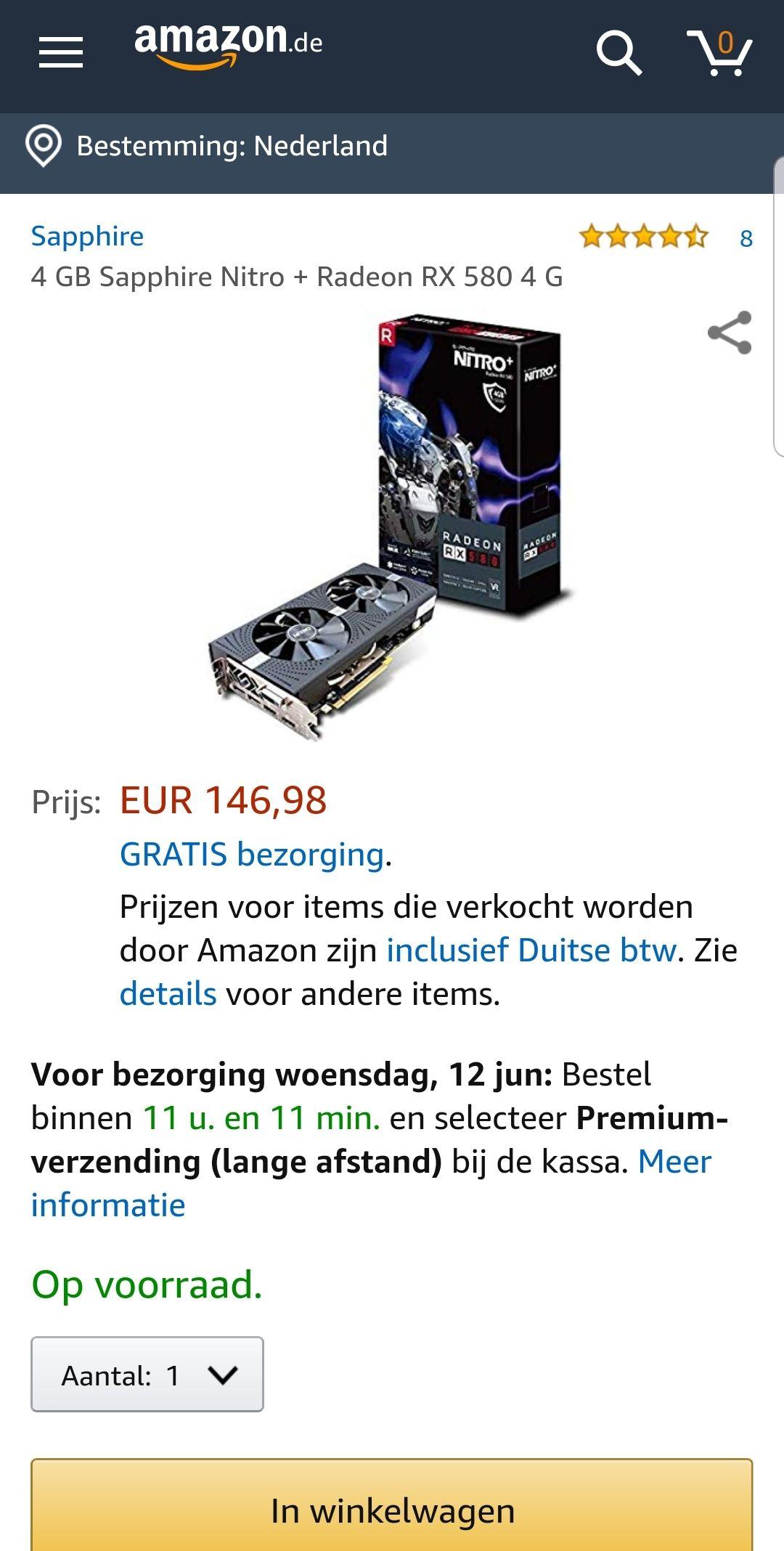 Sapphire Nitro+ Radeon RX 580 4Gb GDDR5