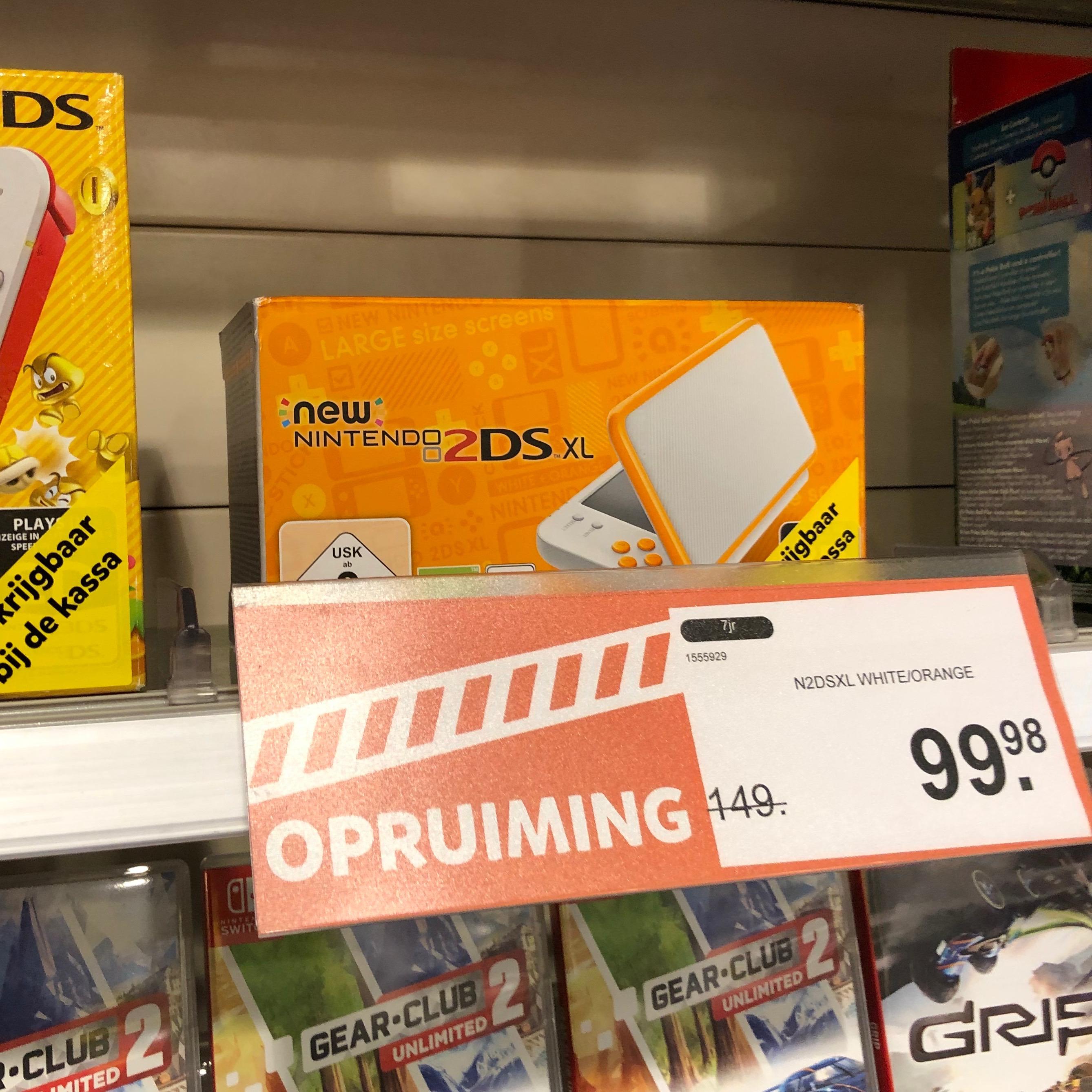 New Nintendo 2DS XL Wit/Oranje voor 99.98 @ Intertoys