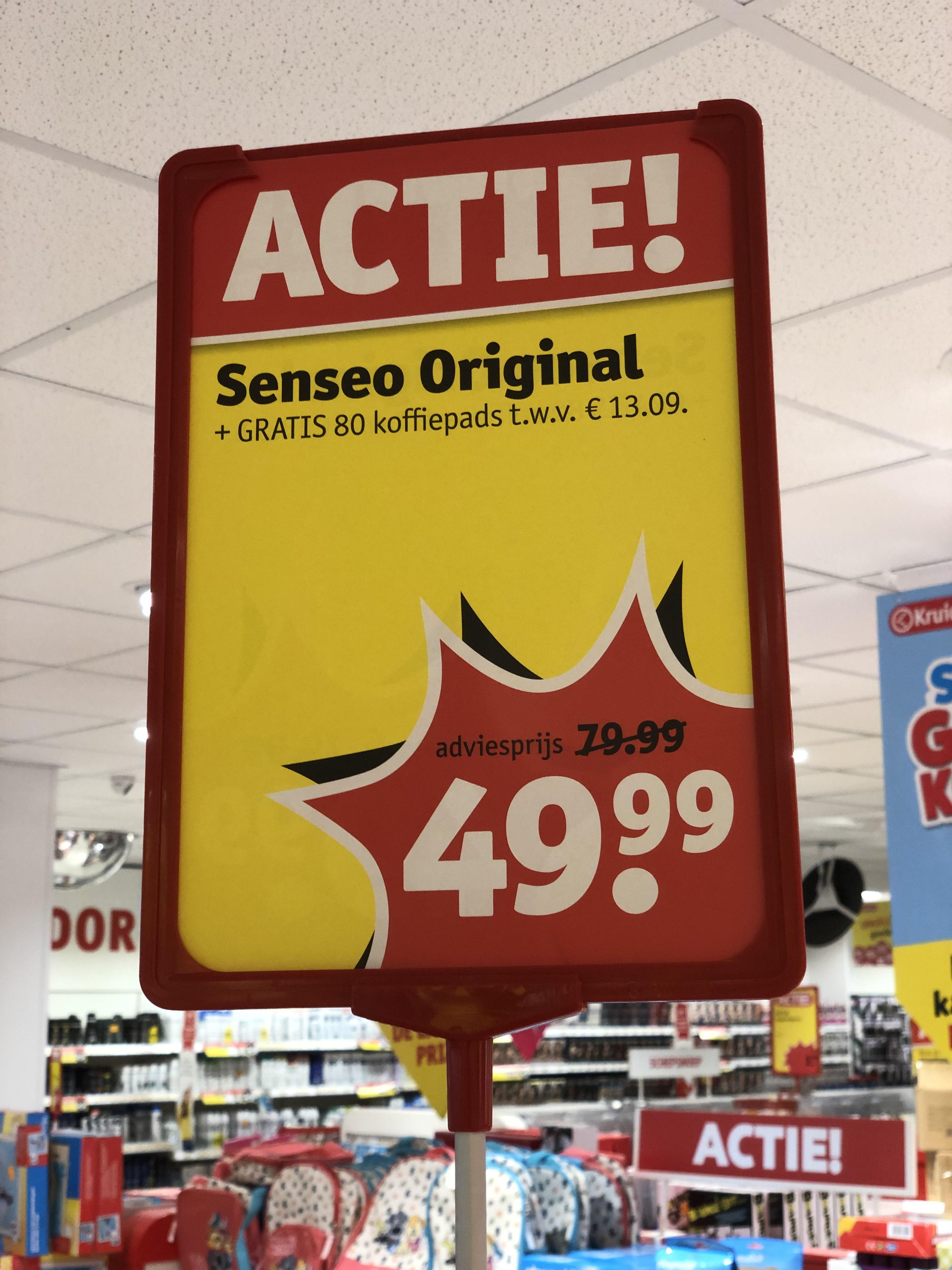 Local deal? Kruidvat: Philips Senseo Original  + gratis koffie - 80 pads