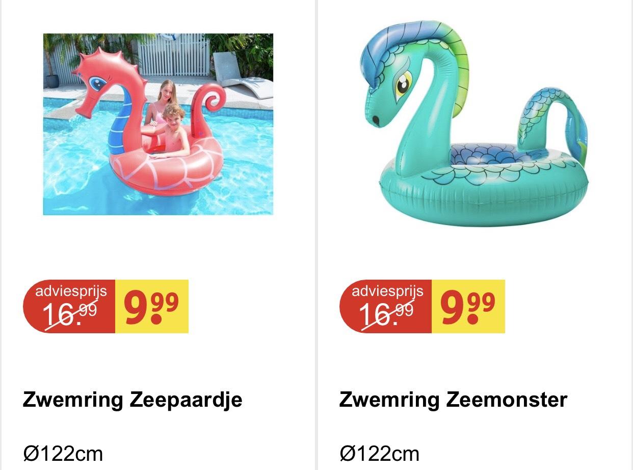 Zwemring Zeepaardje/Zeemonster €9.99 ipv €16.99 @ Kruidvat