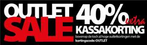 nu 40% extra kassa korting op alle outlet Items