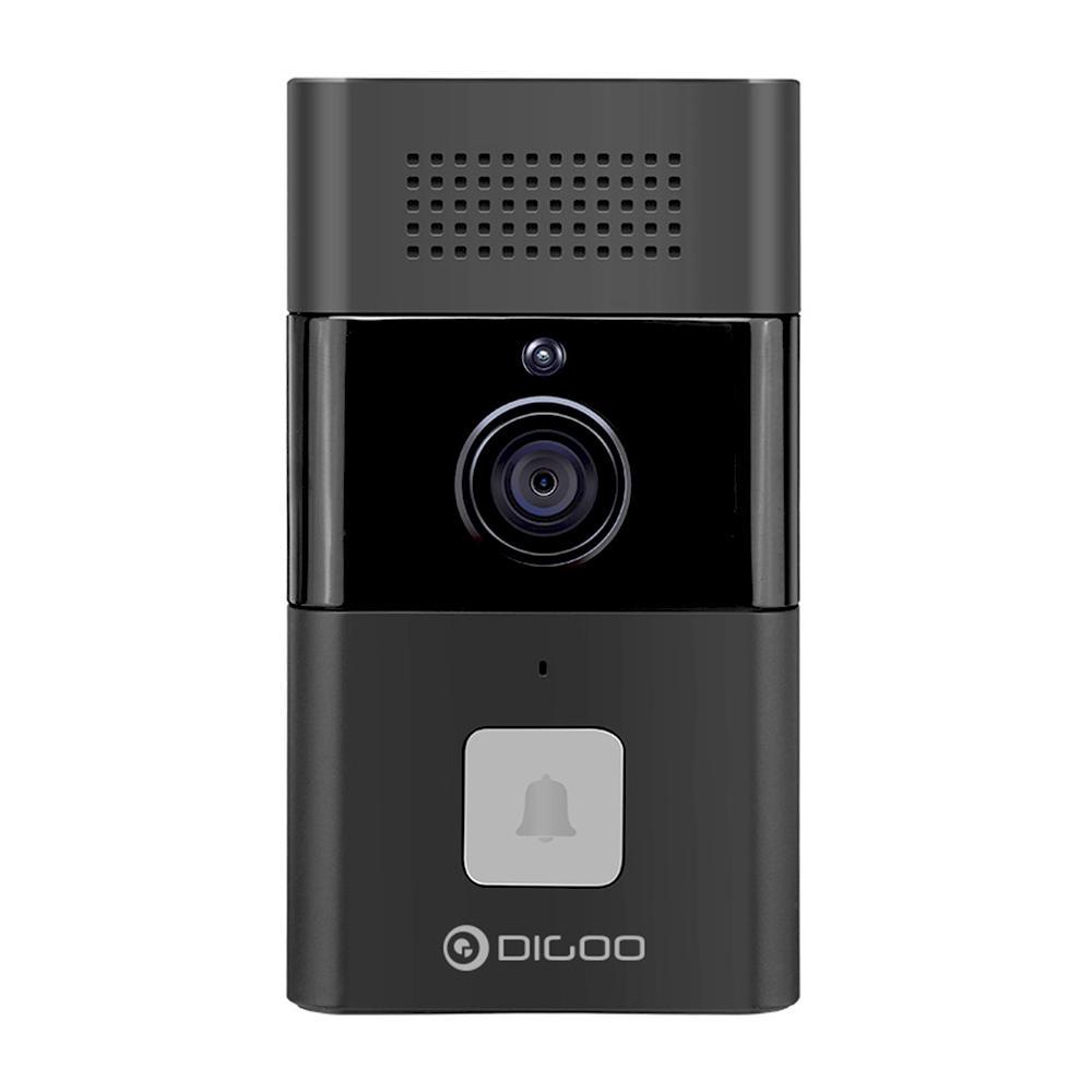 DIGOO DG-XYB 720P HD WIFI Wireless Smart Video Doorbell Two-way Audio Message Function Smart Home Security Monitor - Black