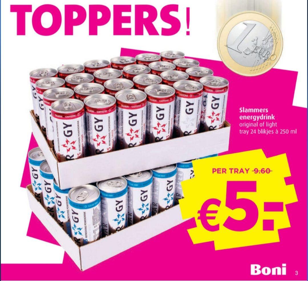 Slammers energy tray €5,- @Boni