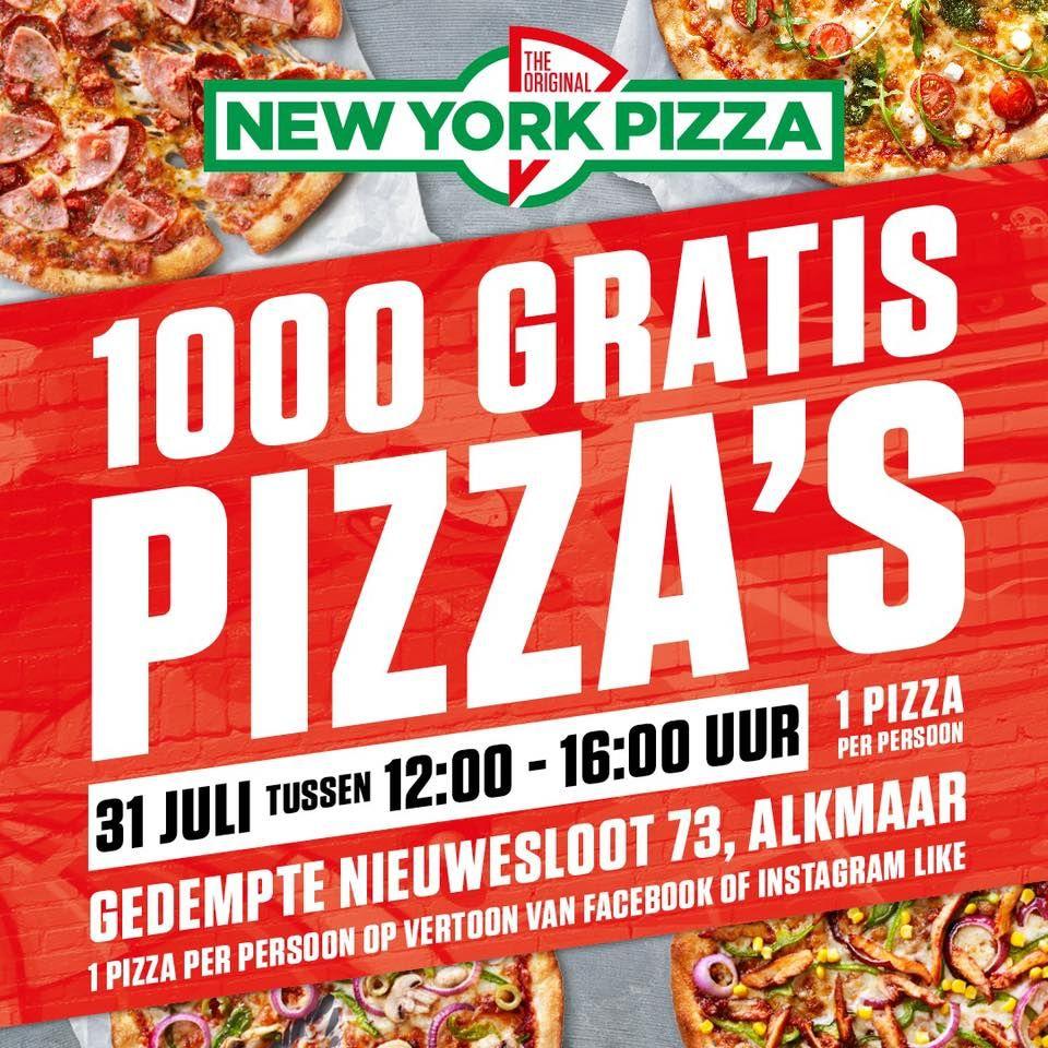 [Lokaal] 1000 gratis pizza's bij NYP Alkmaar Centrum