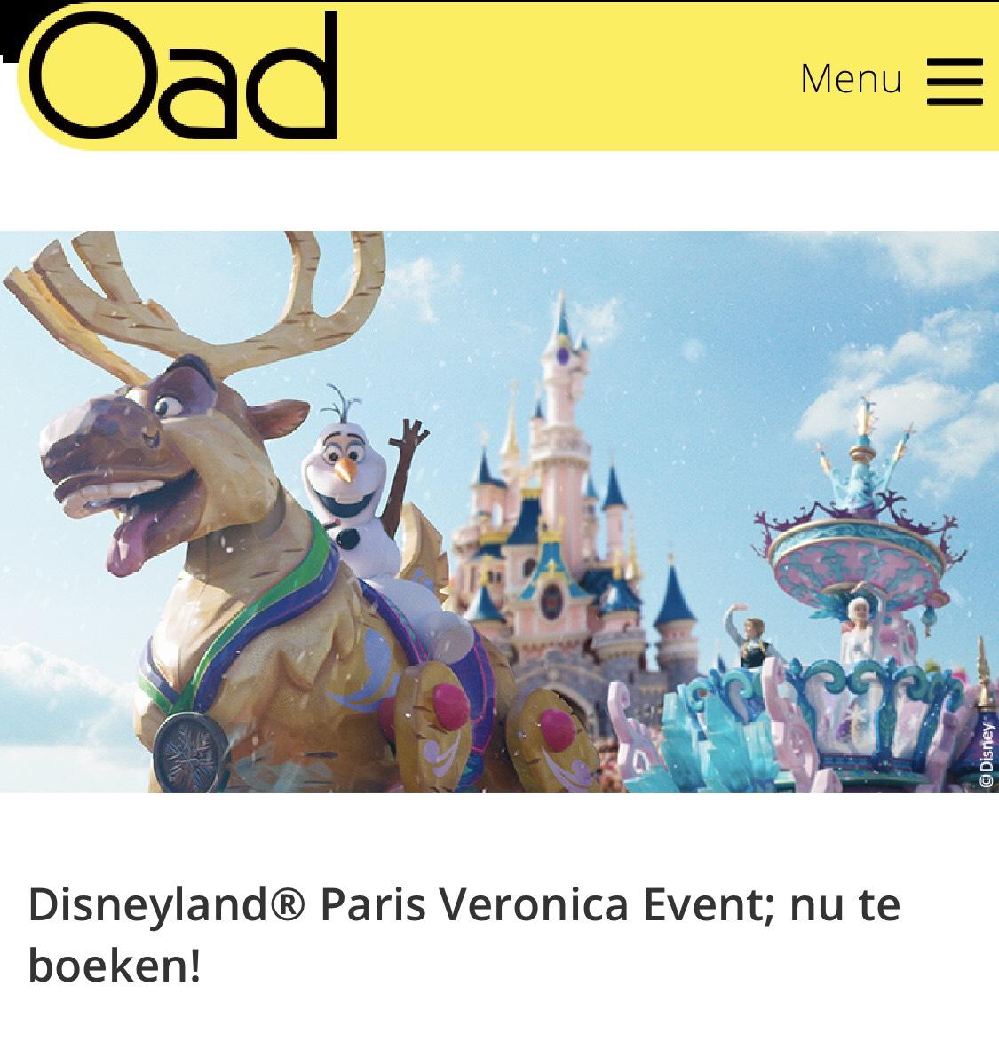3 dagen Disneyland Parijs met 2 overnachtingen vanaf €179,- pp