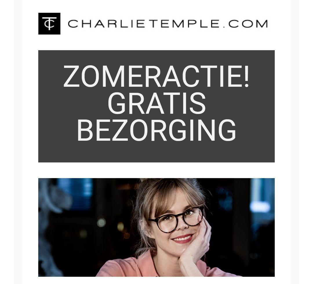 Gratis bezorging twv €4,95, geldig op alle brillen @ Charlie Temple