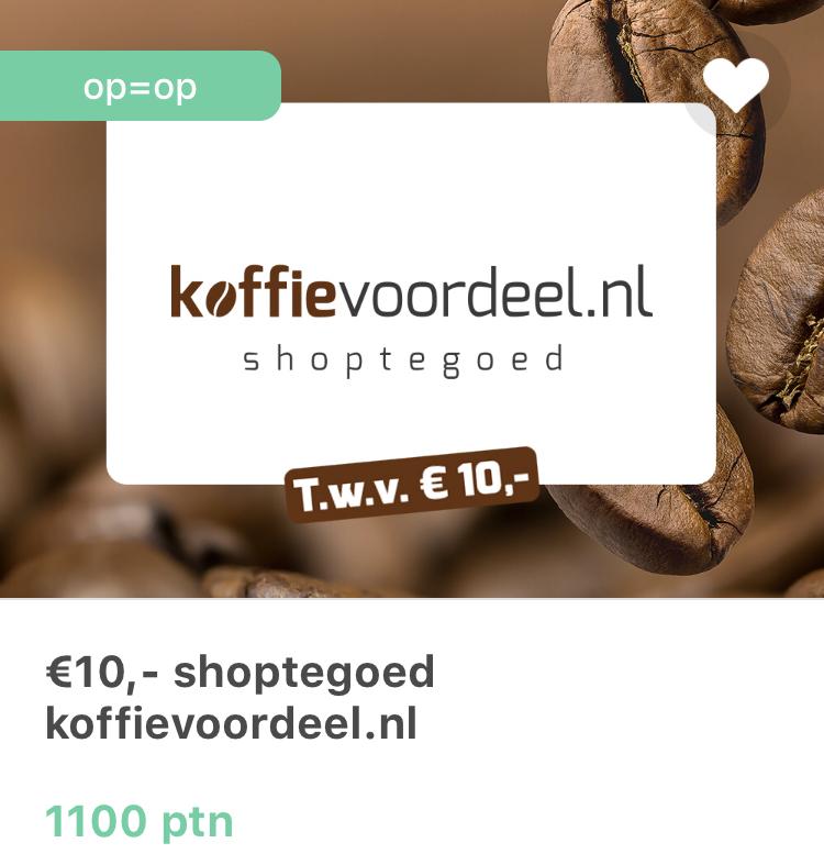Gratis 10 euro Koffievoordeel via Tessa