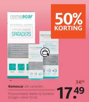 Remescar gezichtsverzorging -50% @ ETOS