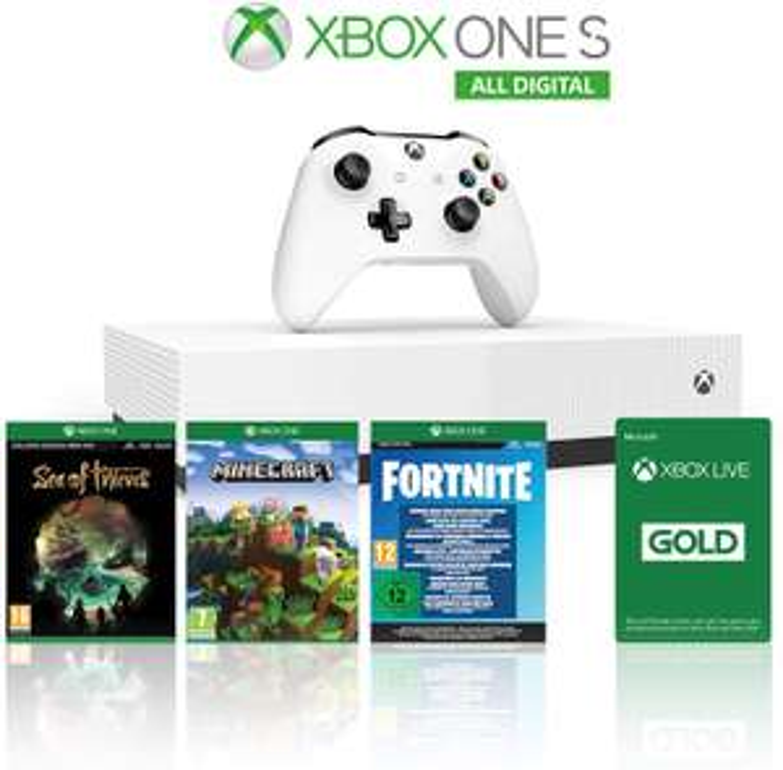 Xbox One S 1TB All Digital + 1 maand XBox Live Gold + 3 digitale games @ amazon.it