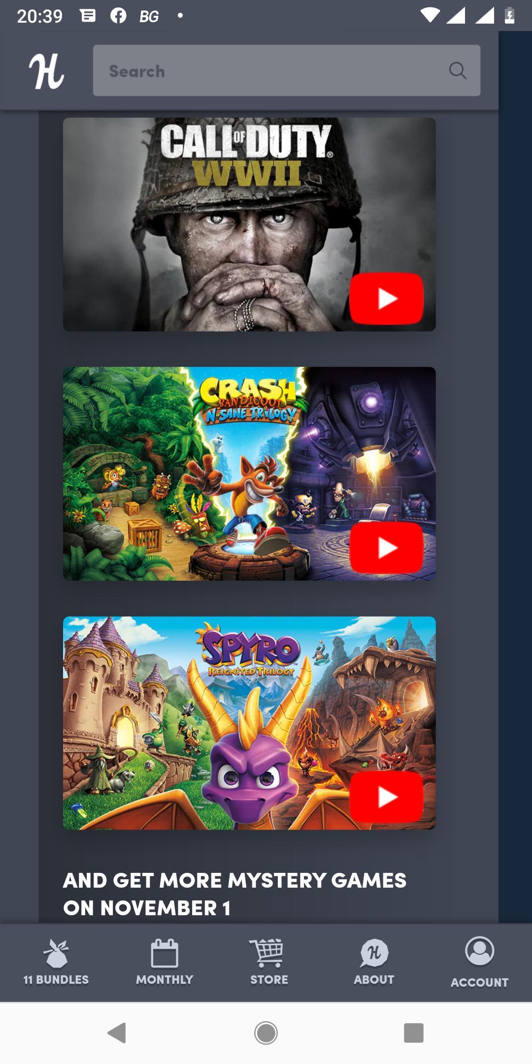 Humble Monthly COD WW2, Spyro re-ignited trilogy, Crash Bandicoot N-sane trilogy PC steam keys en meer - verloopt 1 november 18:00