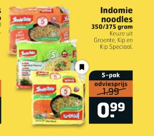 Indomie noodles 5-pak €0.99 || trekpleister