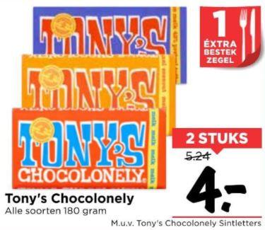 Tony's Chocolonely - 2 repen (alle varianten) @ Vomar