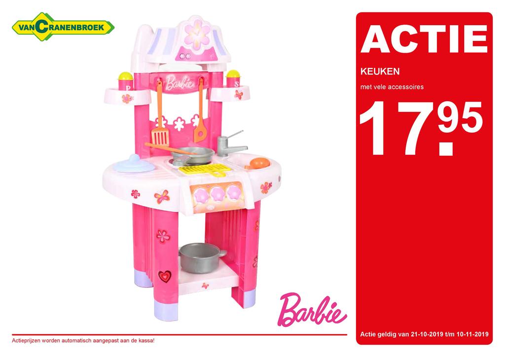Barbie speelgoed keuken voor €17,95 @ Cranenbroek