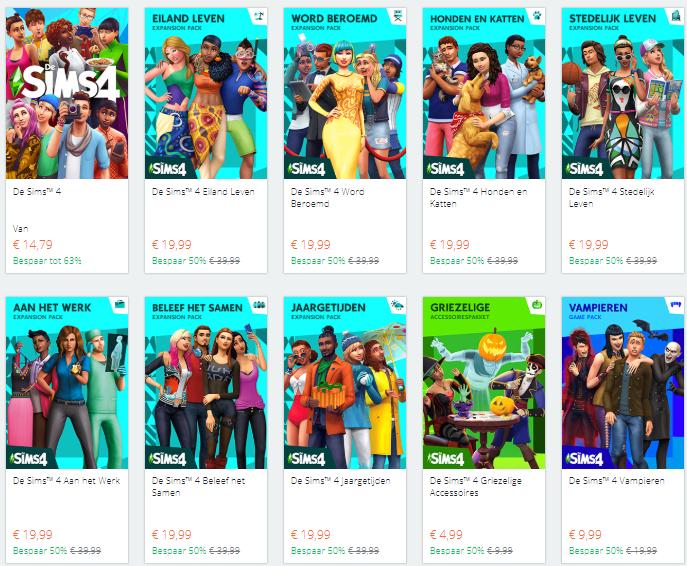 Spooktastische kortingen in De Sims 4
