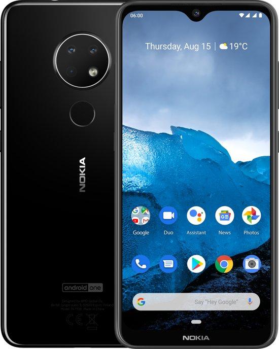 Dagdeal Nokia 6.2 @bol.com zwart en grijs