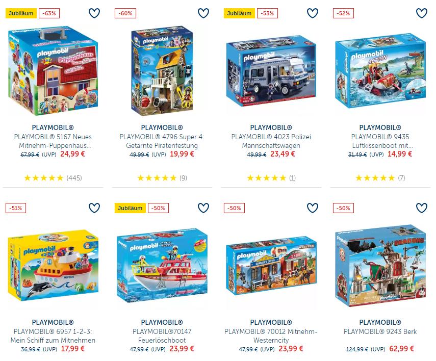 Korting tot 63% + 10% extra korting op Playmobil