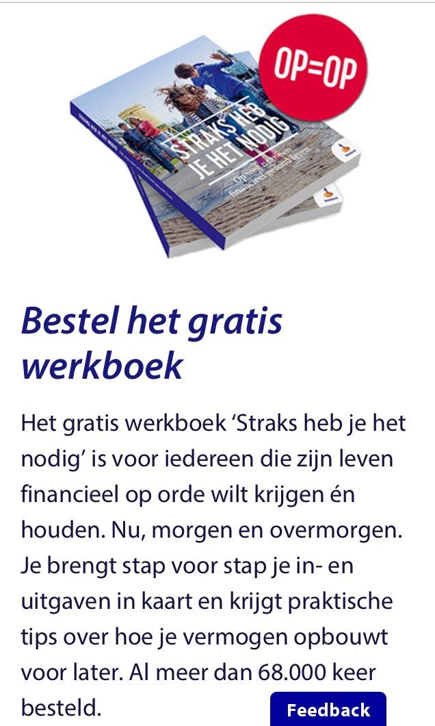 Gratis werkboek voor Rabobank klanten