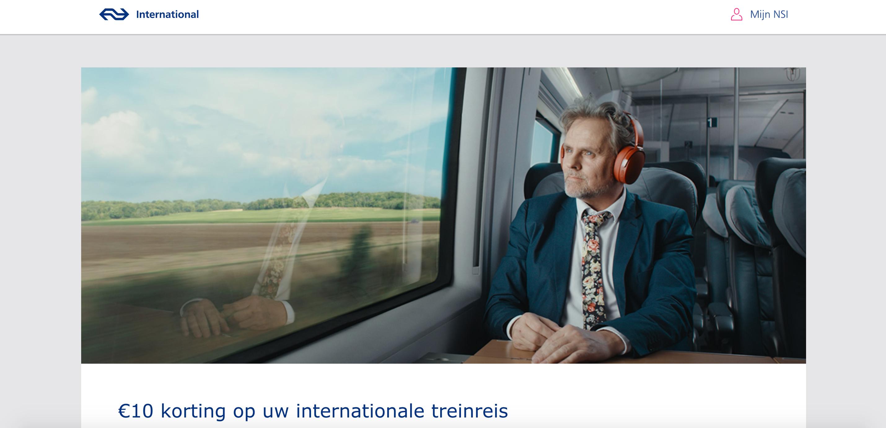 €10,- korting NS International va. €50,-