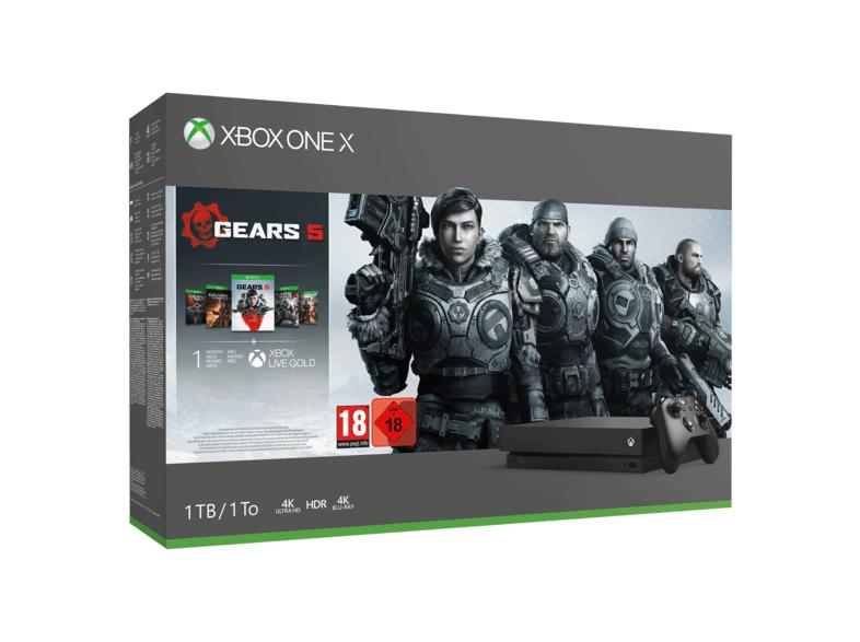 Xbox One X console 1TB + Gears of War Collectie + Call of Duty: Modern Warfare @ Media Markt