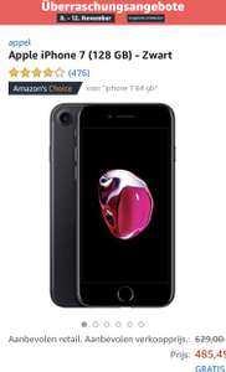 Iphone 7 zwart 128 GB Amazon