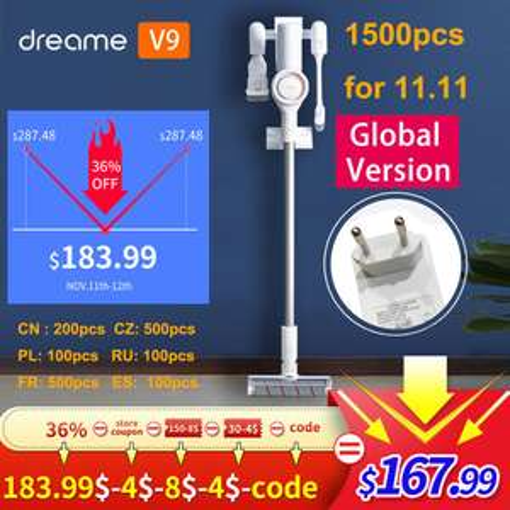 Xiaomi Dreame v9 (V8 voor €120) EU warehouse [Aliexpress Deals]