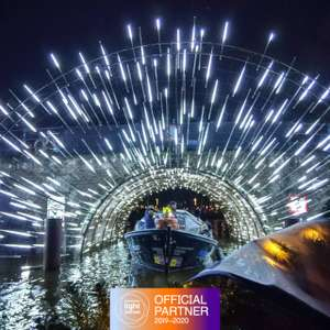 Amsterdam Light Festival - small open boat cruise by KINboat