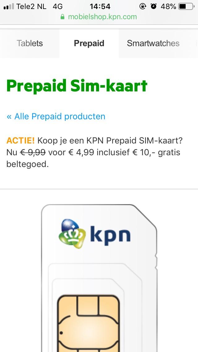 Prepaid actie KPN