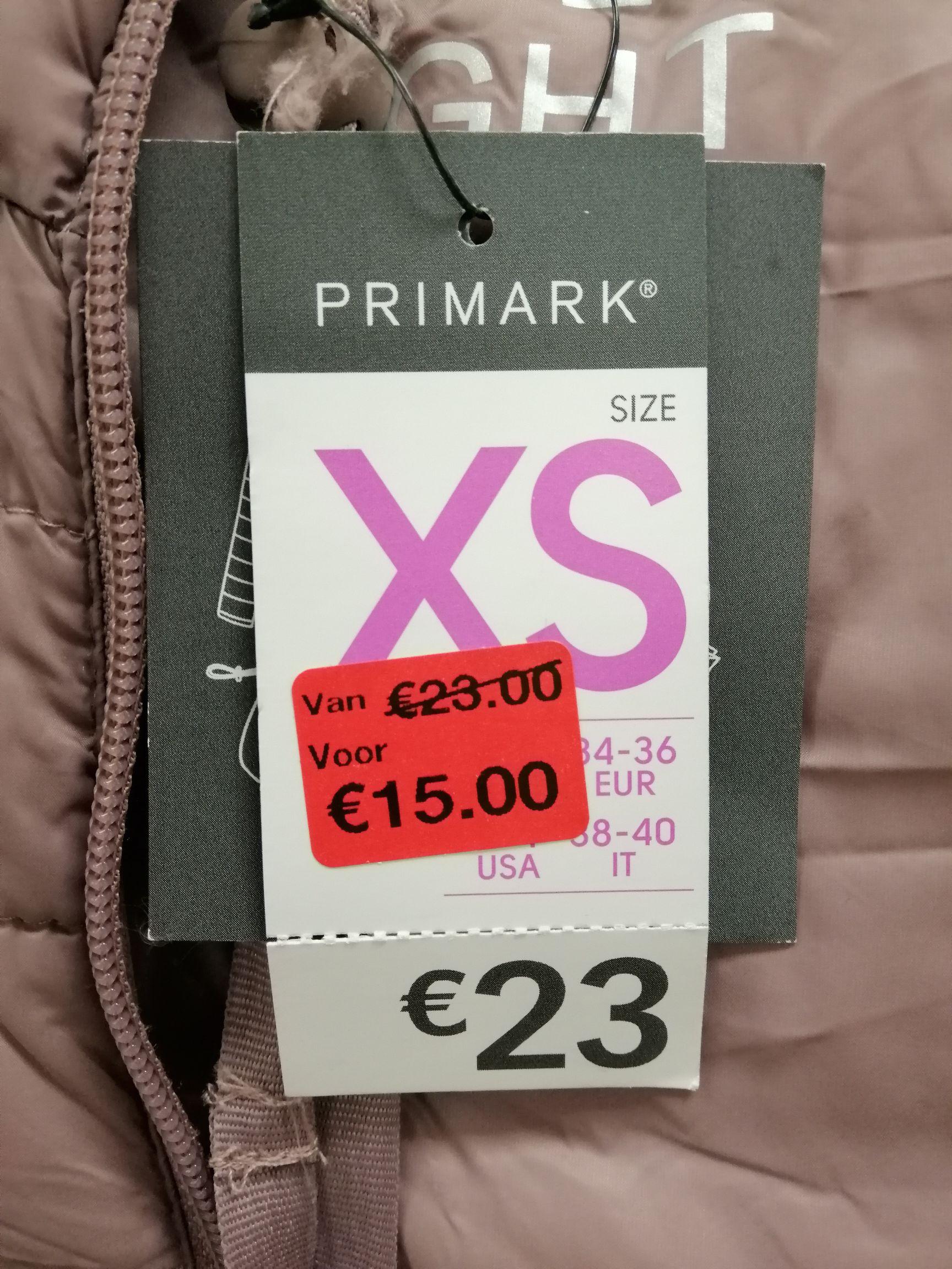 Lightweight jacket dames van €23,- voor €15,- bij Primark Arnhem