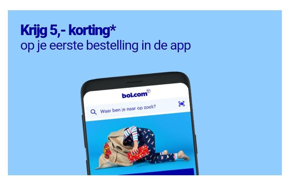 €5 korting via Bol.com app (nieuwsbrief)