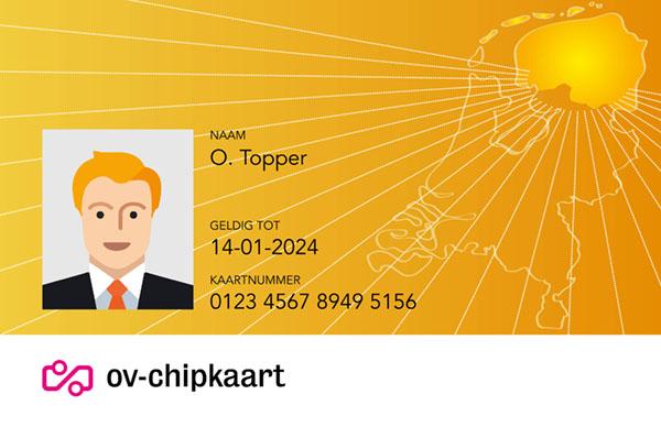 Persoonlijke ov chipkaart voor mensen in Groningen, Friesland en Drenthe