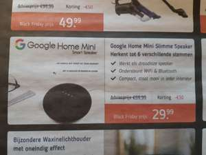 Early Black Friday: Google Home Mini voor 29,99!