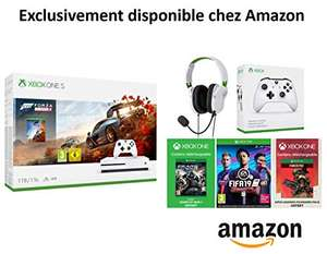 Xbox One S (Disc drive) + Forza Horizon 4 + Turtle Beach Recon 50x + extra controller + FIFA 19 + GOW 4 + Apex Legends Founders Pack 2