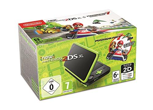 New Nintendo 2DS XL zwart/groen + mario kart 7 geïnstalleerd voor €109,58 @ amazon.de