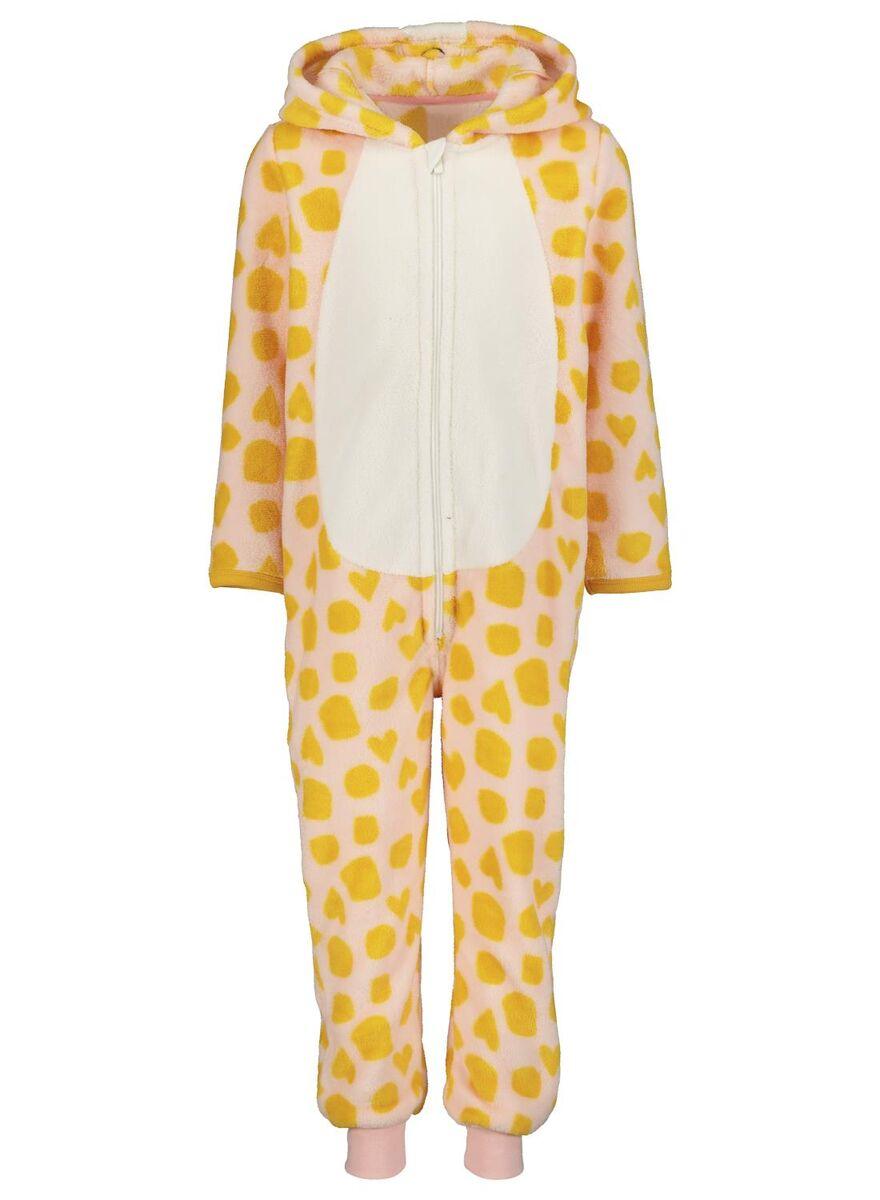 kinder onesie giraf lichtroze
