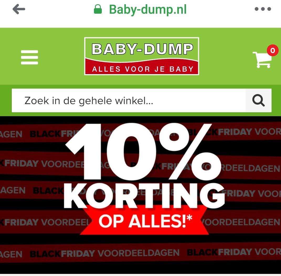 Baby Dump 10% korting op alles*