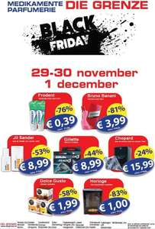 Die Grenze Black friday acties: Dolce Gusto doos 16 capsules voor €1,99 en meer