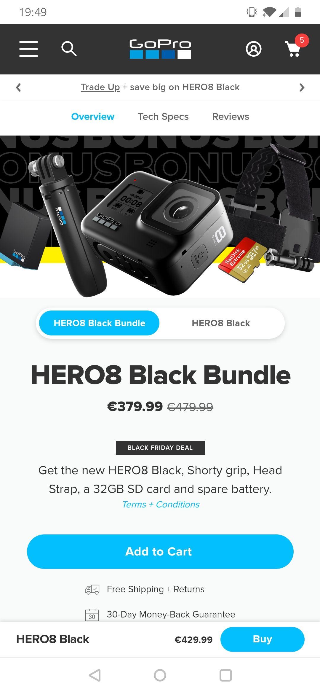 GoPro Hero 8 Black bundle