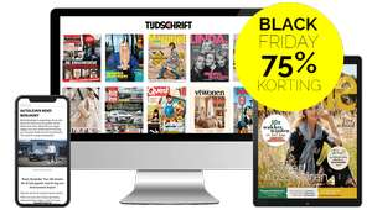 Twee maanden 75% korting op 75 tijdschriften