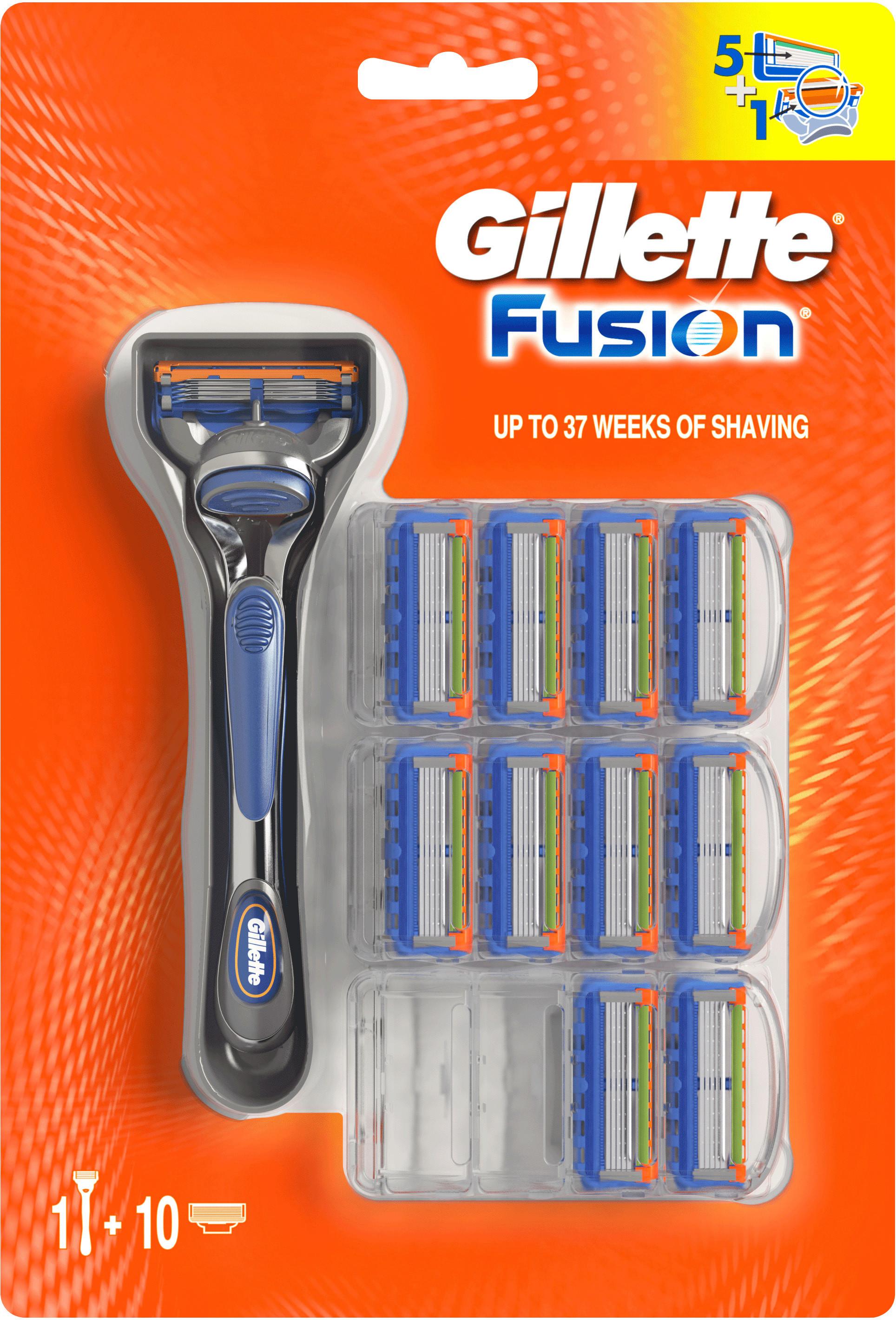 Gillette Special Pak Fusion Scheerapparaat + 11 Scheermesjes