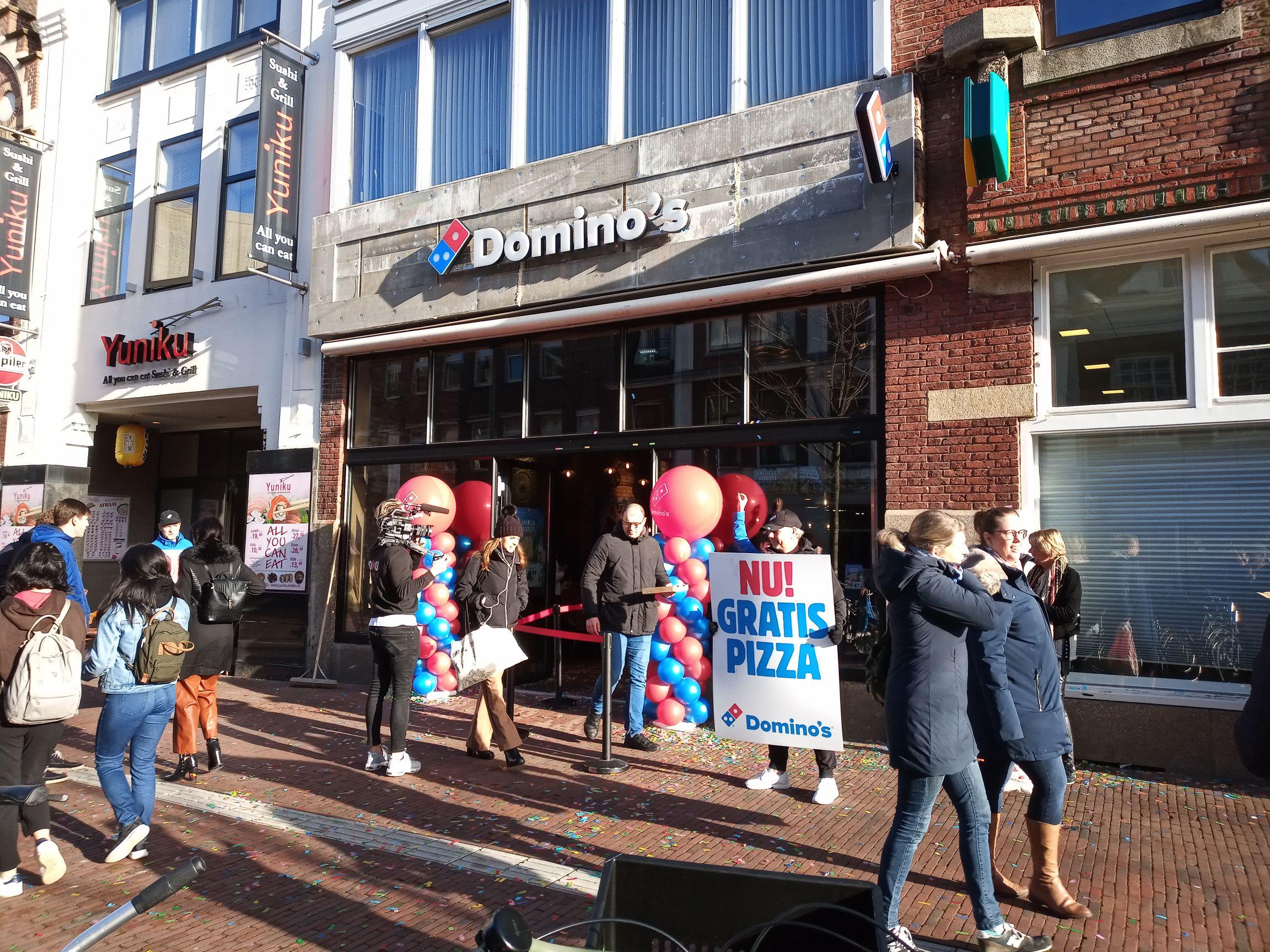 Gratis Domino's pizza @LeidenStation
