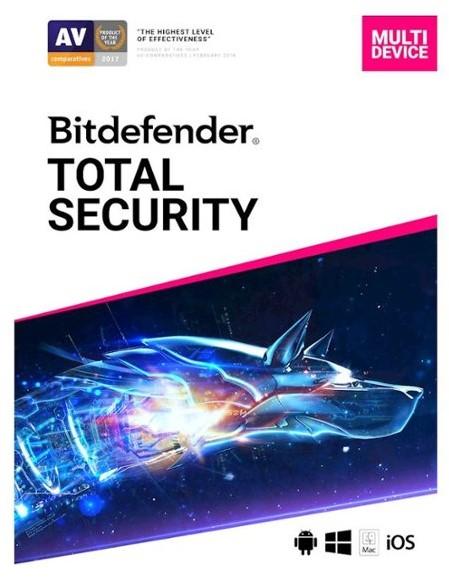 Bitdefender Total Security 2020 5 apparaten voor 1 jaar