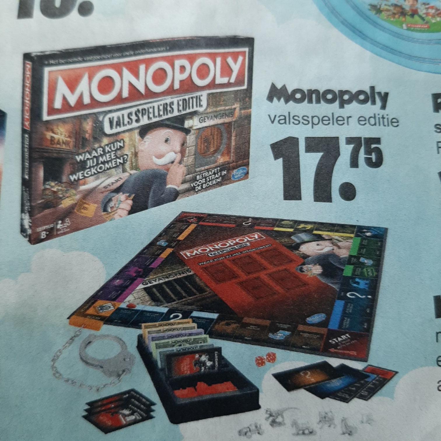 Monopoly valsspeler editie