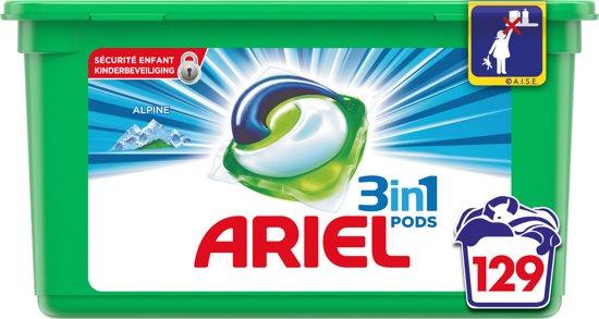 Ariel 3 in 1 pods alpine,129 pods voor 27,59 bol (select)