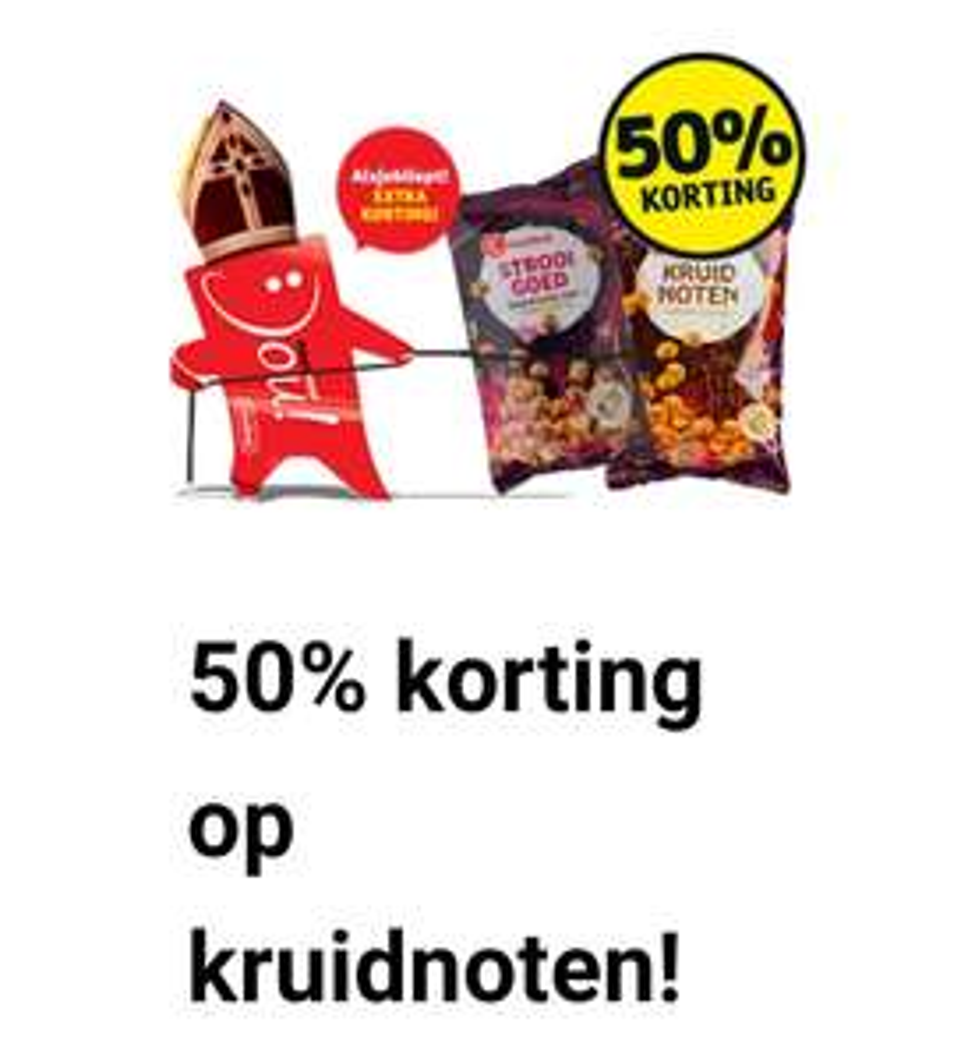 Kruidnoten-uitdeelzakjes 50% korting bij Kruidvat