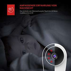 Victure FHD Baby Monitor WiFi Camera Sound / Motion Detection with Night Vision 2-Way Audio Cloud Service Available Monitor