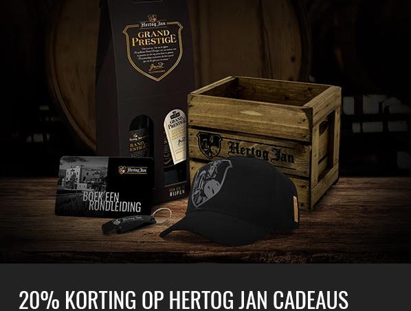 20% korting op Hertog Jan cadeaus @hertogjan.nl