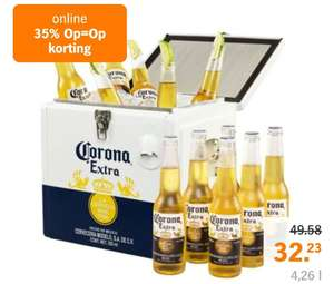 Corona Coolbox + 12 flesjes (op=op)